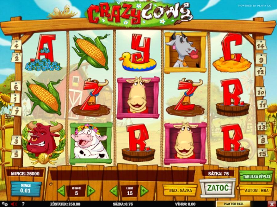 Online kasíno automat Crazy Cows