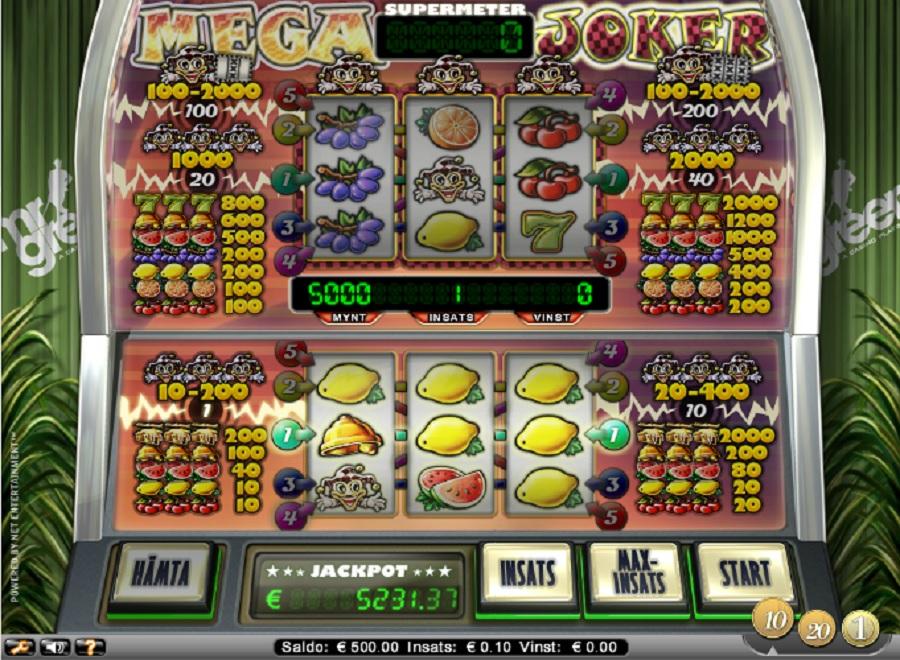 Svenska Spelautomater Mega Joker gratis