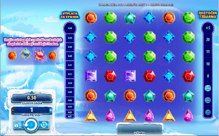 Video automatová kasíno hra Cool Jewels