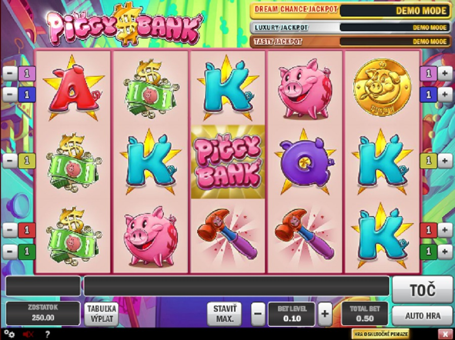 Video automaty Piggy Bank