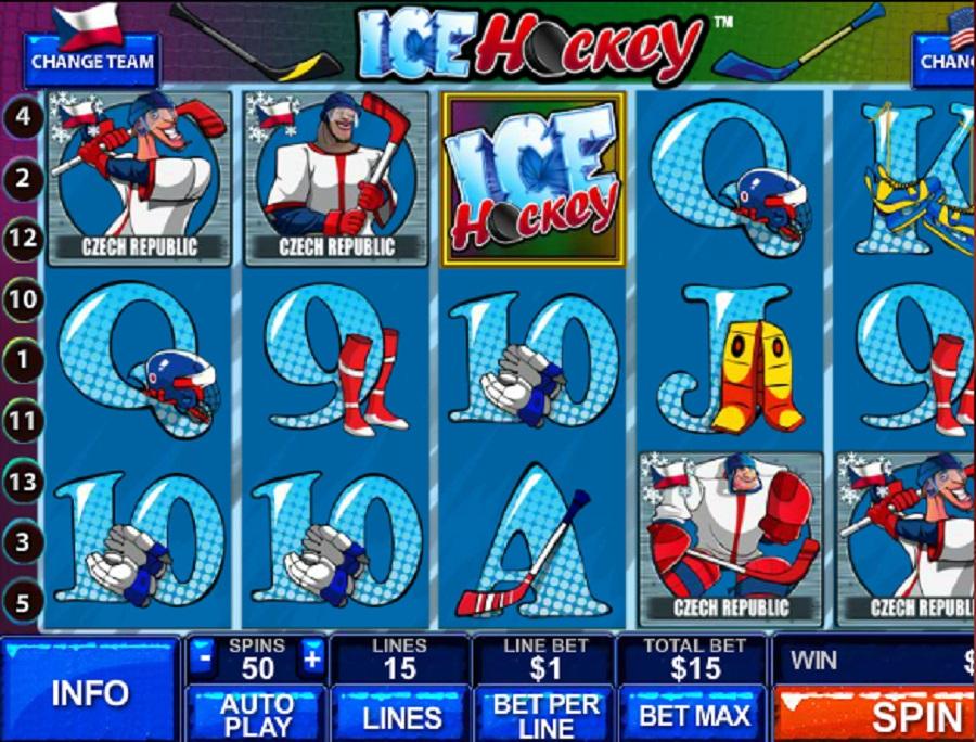 Výherné automaty online Ľadový hokej