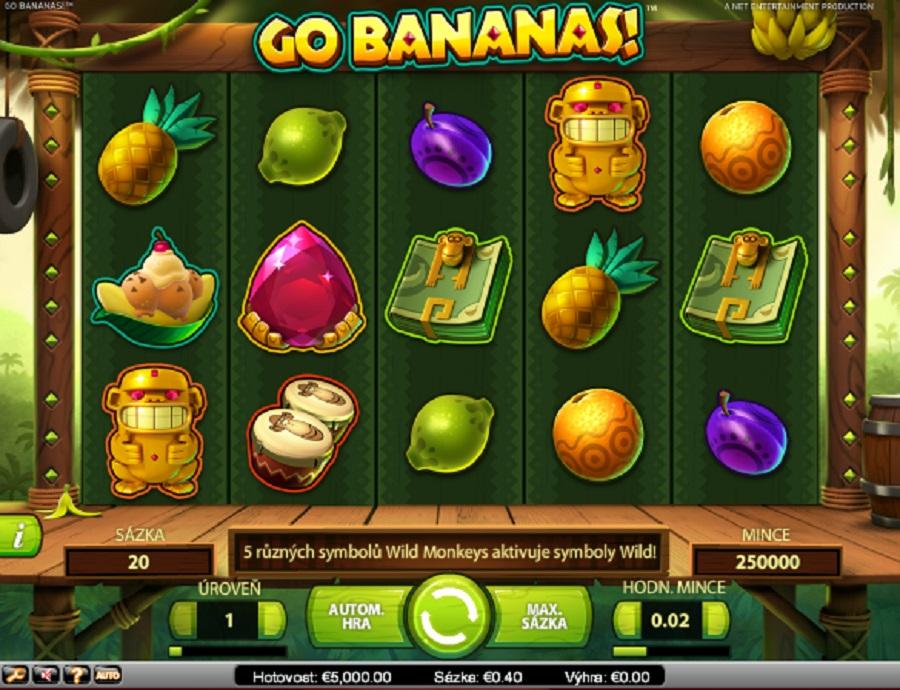 Výherné hracie automaty Go Bananas