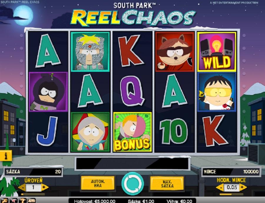 Výherné hracie kasíno automaty South Park Reel Chaos