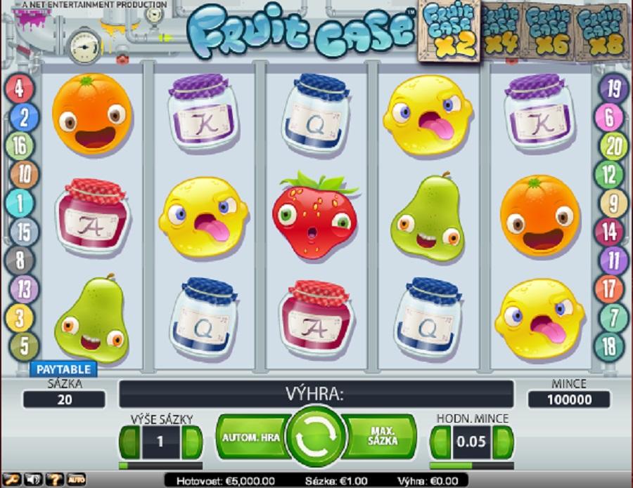 Výherné kasíno automaty Fruit Case