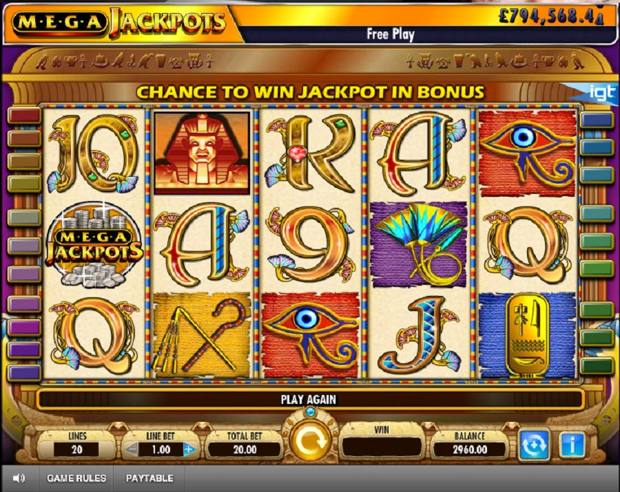 Hrací automat Mega Jackpot Cleopatra