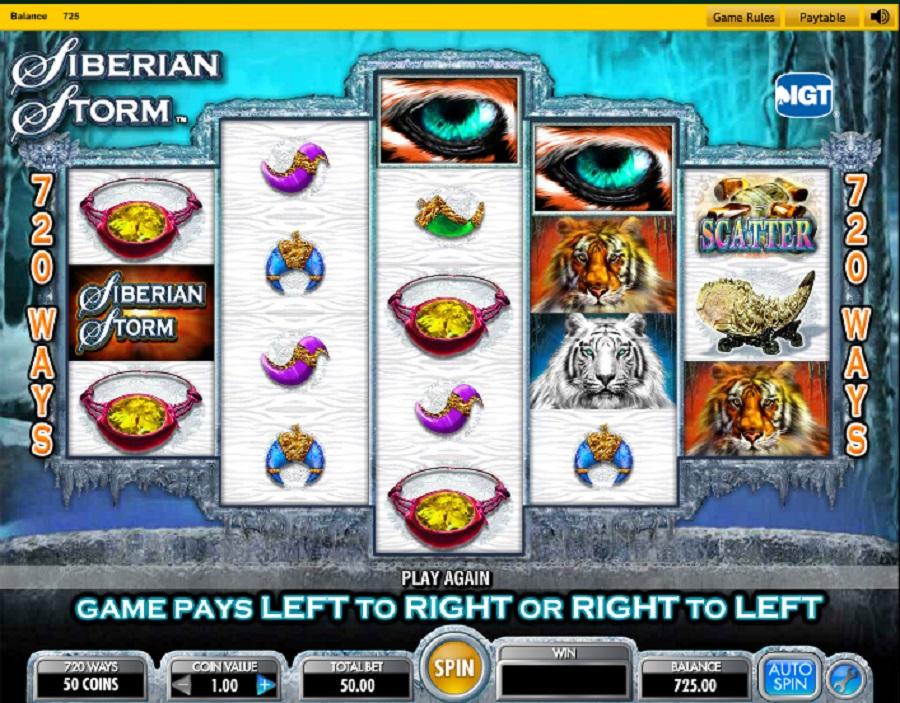 Výherný automat Siberian Storm