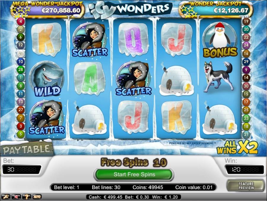 Hrací automat Icy Wonders