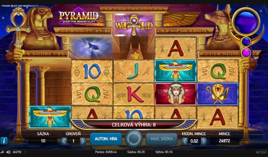 Automatová hra Pyramid Quest