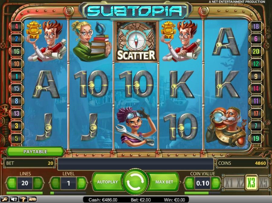 Automaty do gry Subtopia