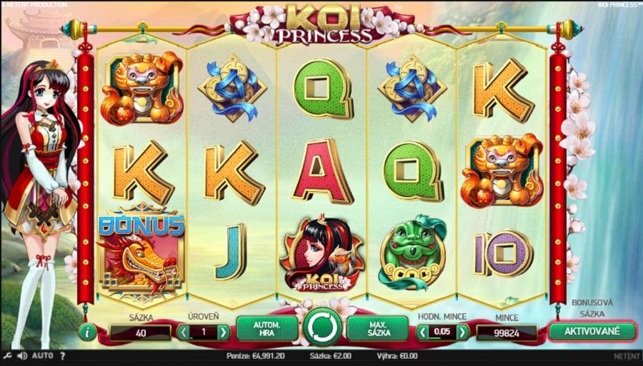 Hrací automat Koi Princess