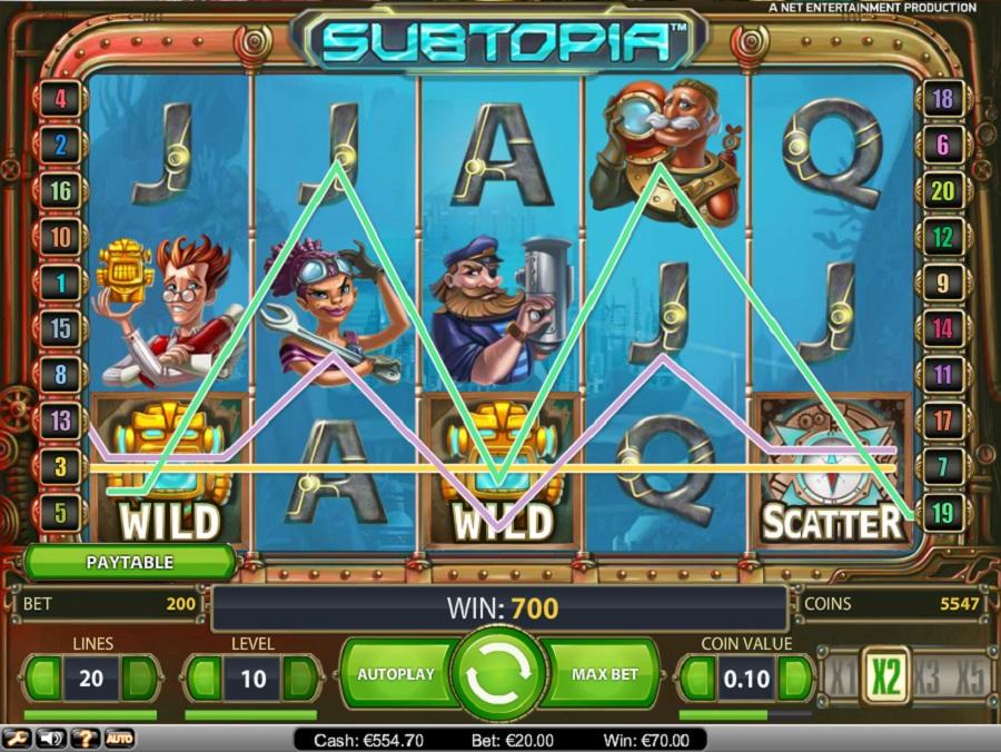 Hrací automat Subtopia