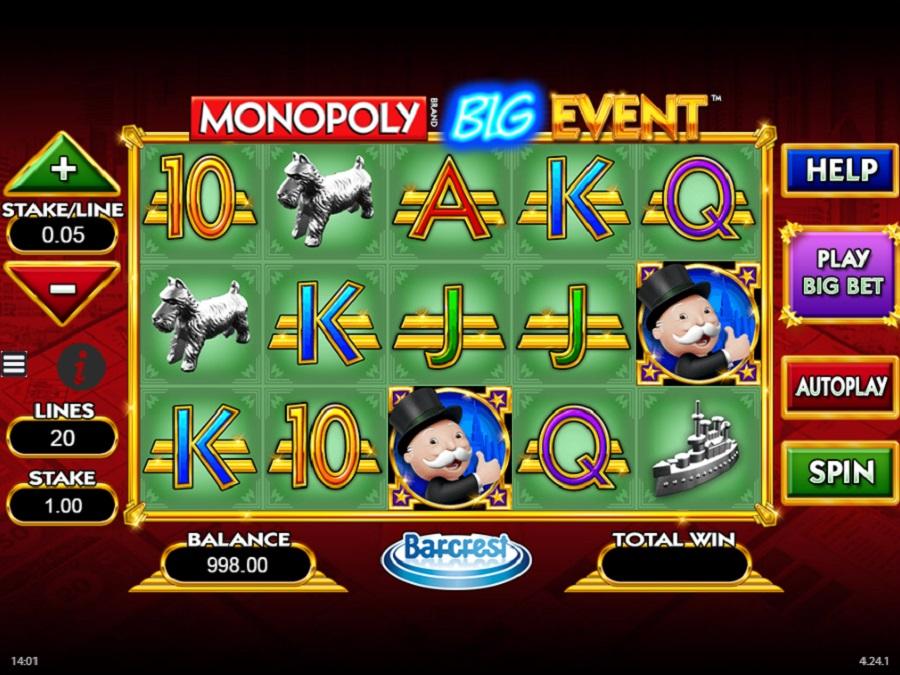 Online slot Monopoly big Event