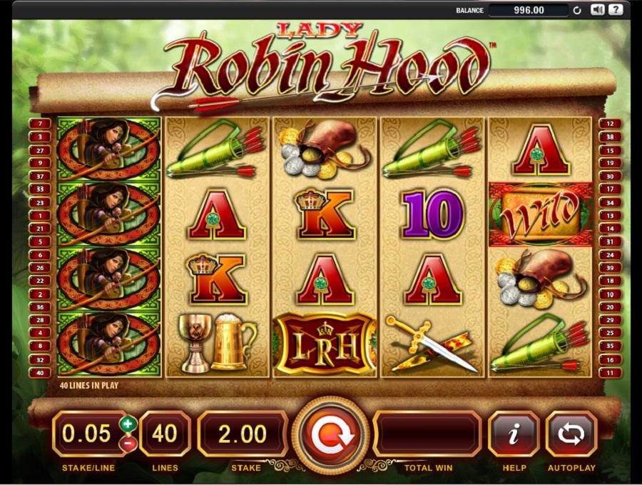 Výherný automat Lady Robin Hood