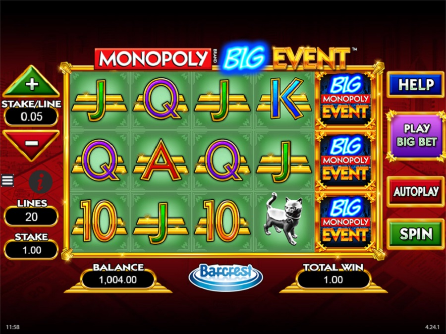 Výherný automat Monopoly