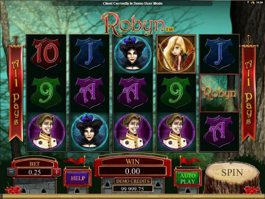 Hrací automat Robyn