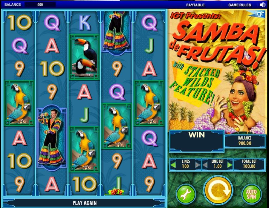 Hrací automat Samba de Frutas