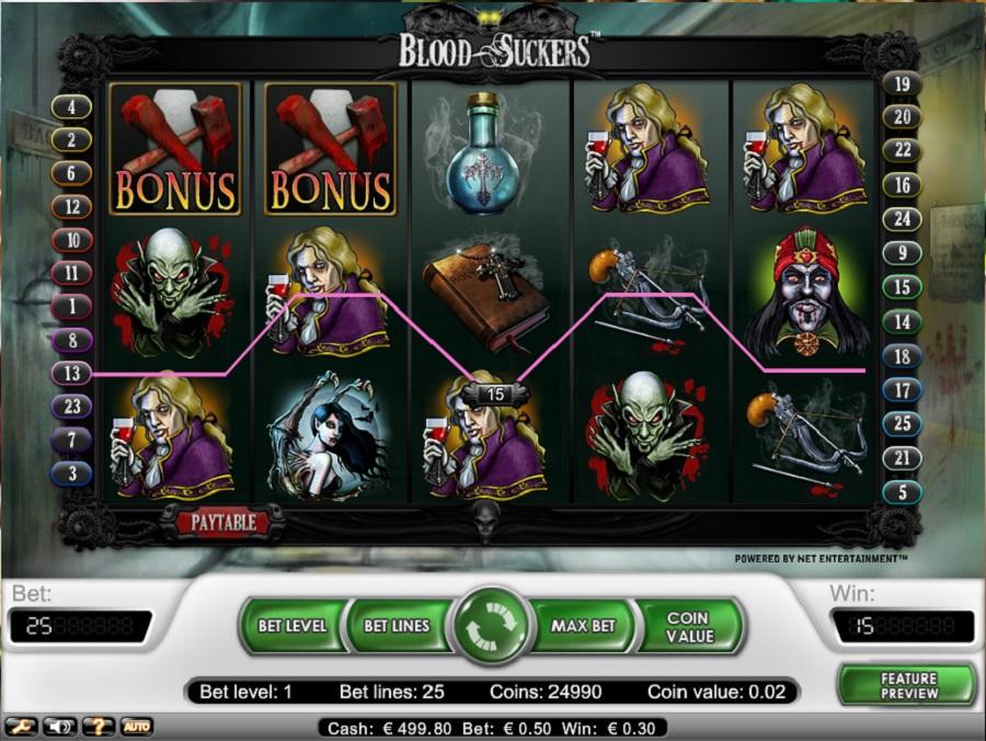 Slotowe gry Blood Suckers