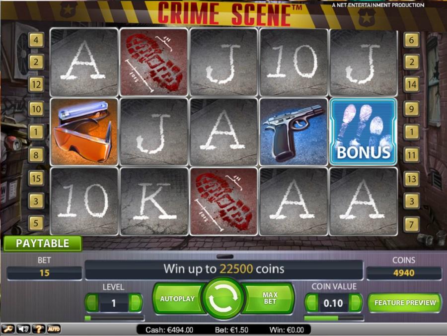 Automaty do gry Crime scene
