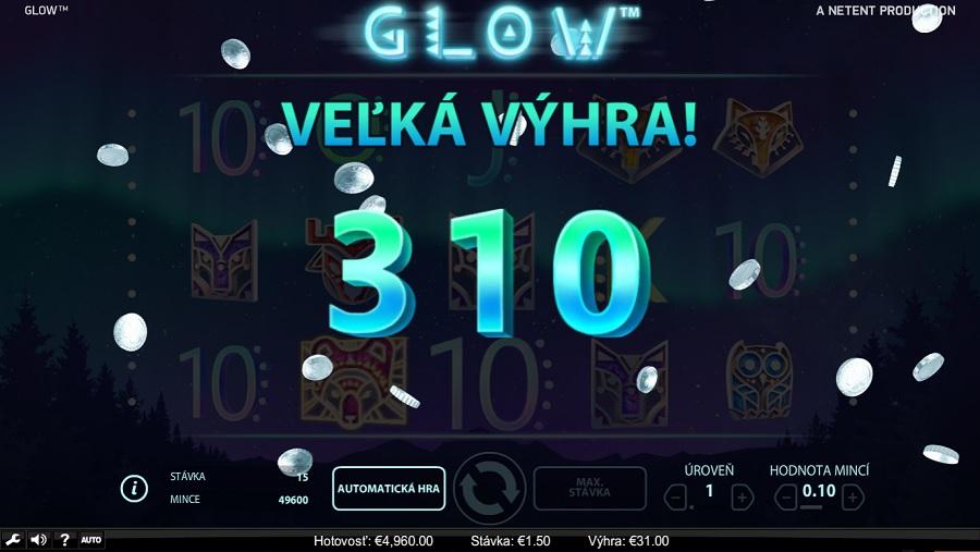 Magický hrací automat Glow