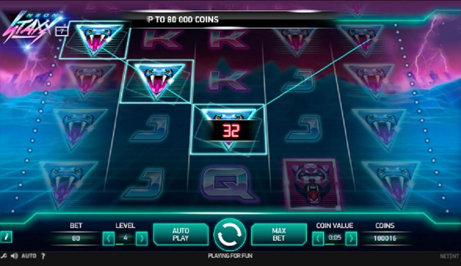 Neon Staxx slot machine