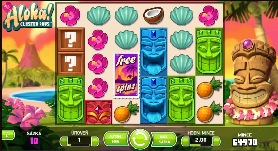 Hrací automaty Aloha Cluster Pays