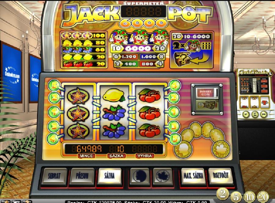 Výherné automaty Jackpot6000