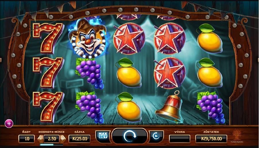 Výherný automat Wicket cirkus