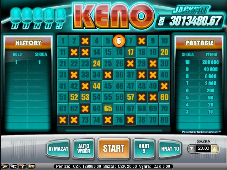 Bonus Keno online