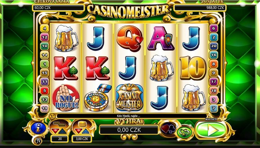 Hrací automaty Casinomeister
