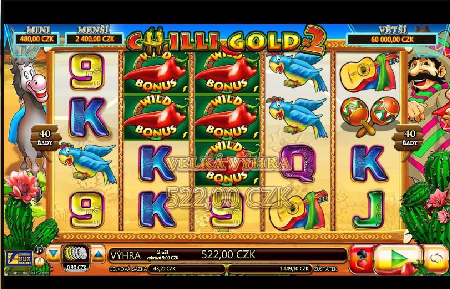 Chilli gold automatové hry