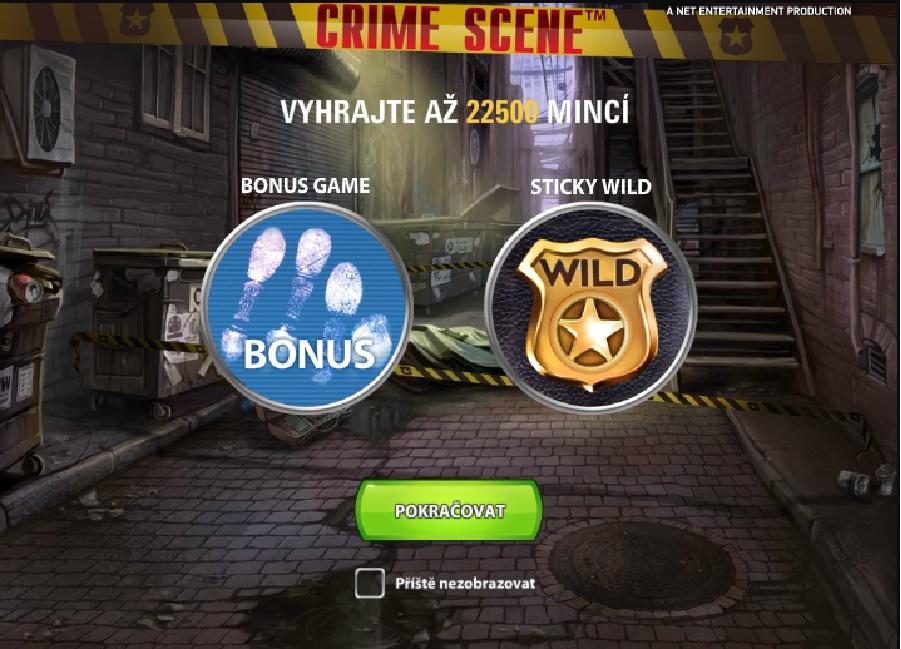 Výherný automat Crime scene