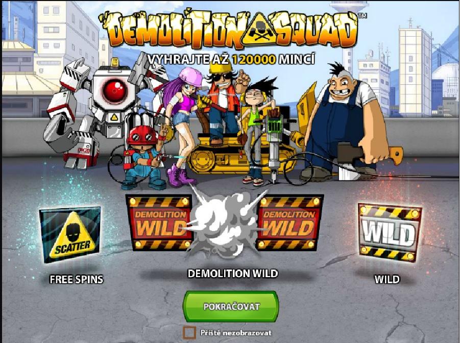 Automatová hra Demolition Squad