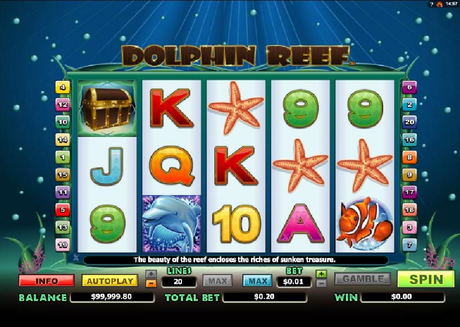 Hracie automaty Dolphin Reef