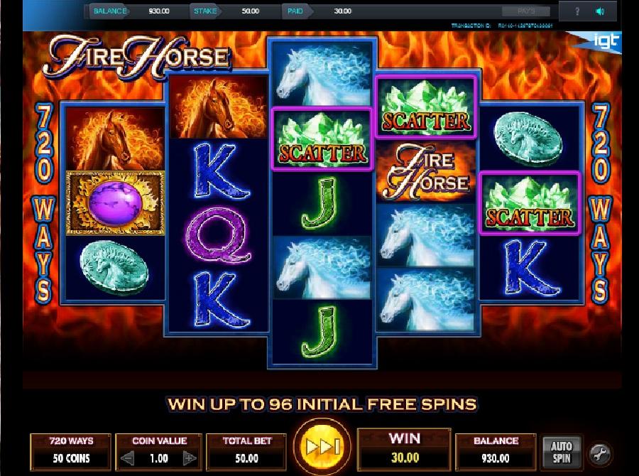 Výherní hrací automaty Fire Horse