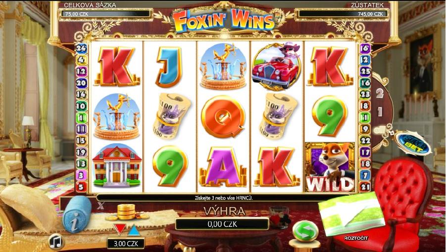 Výherné automaty Foxin wins