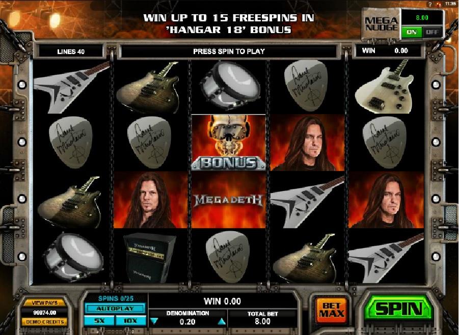 Automatová hra Megadeth