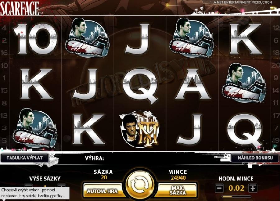 Hrací výherní automaty Scarface