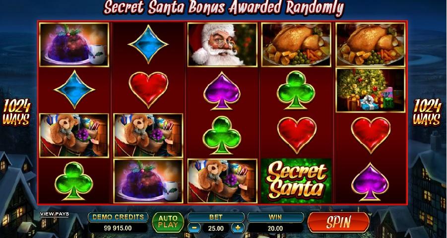 Secret Santa výherné automaty