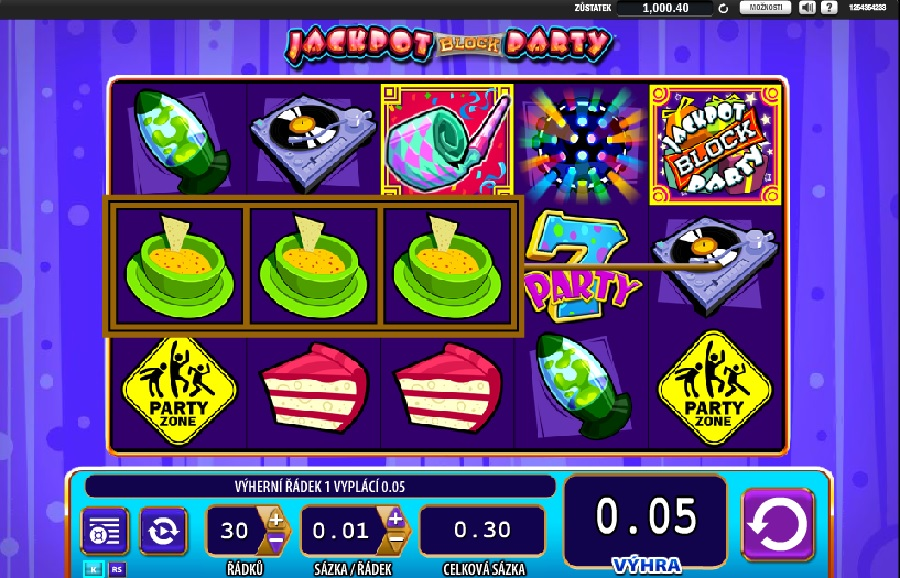 Online automaty Super Jackpot Block Party