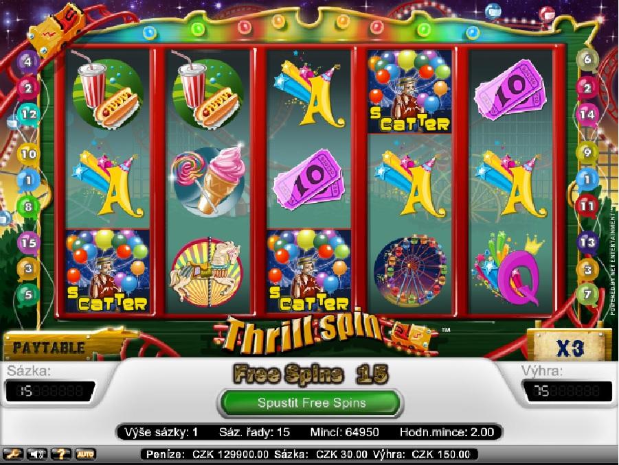 Automatová hra Thrill Spin