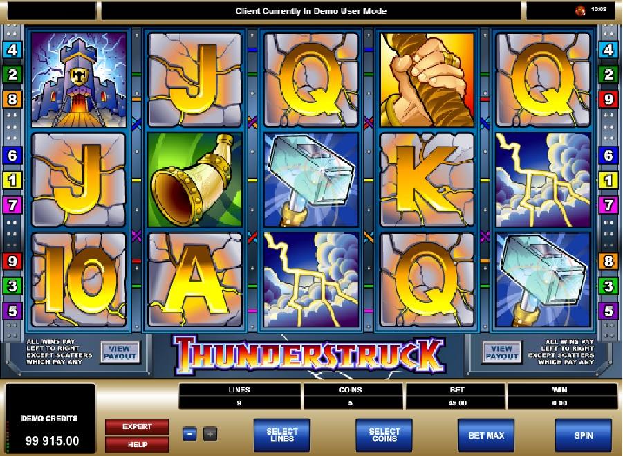 Automatová hra Thunderstruck