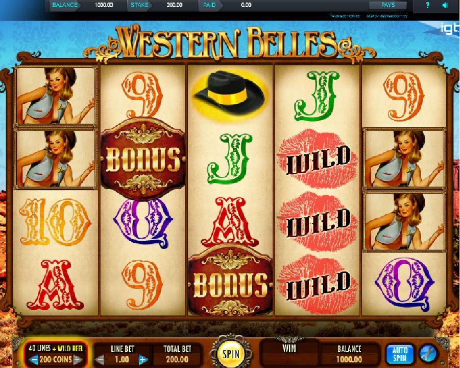 Western Belles výherný automat
