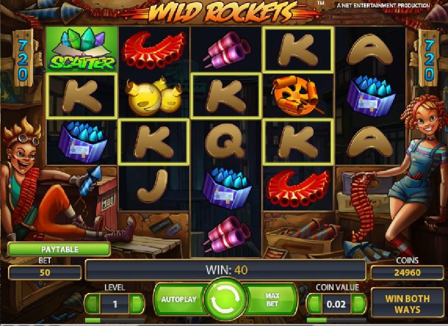 Slotowe gry Wild Rockets