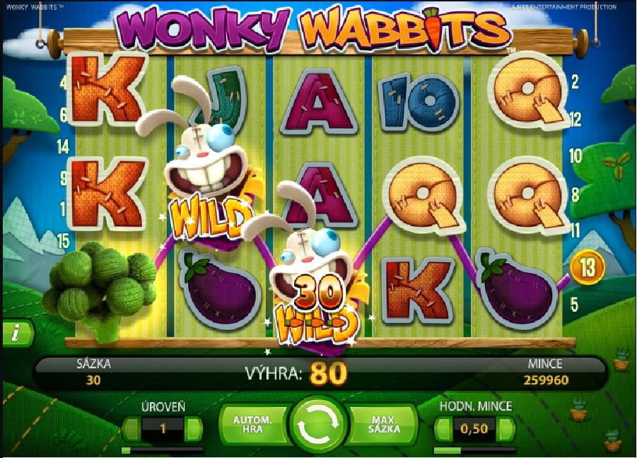 Automatová hra Wonky Wabbits