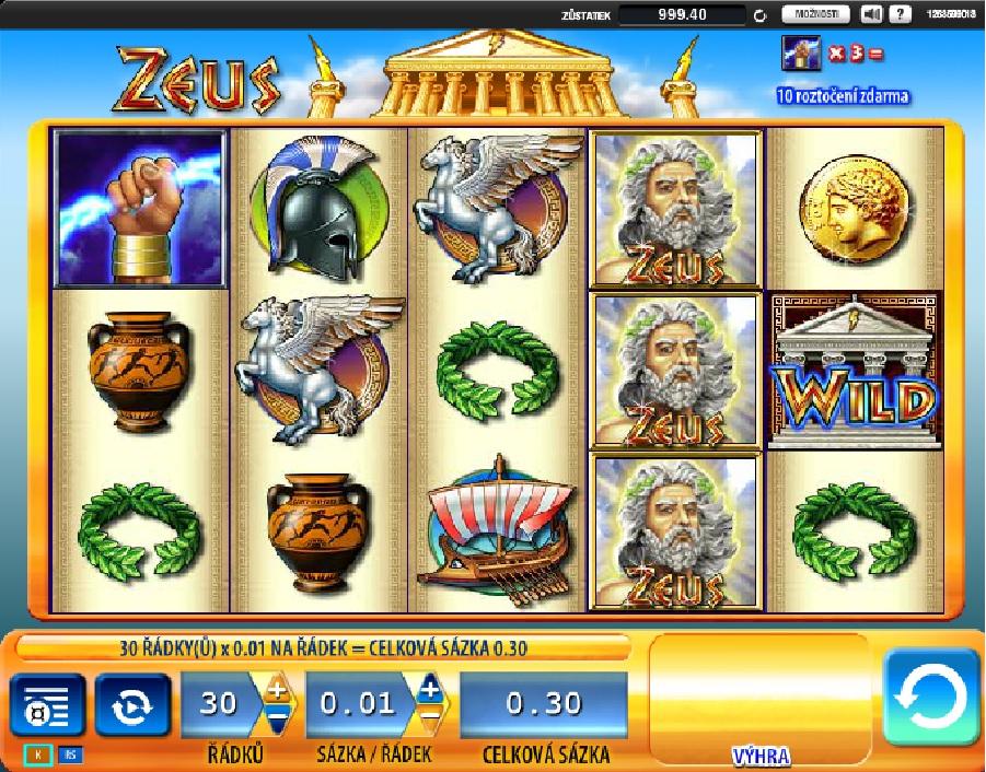 Výherné hracie automaty Zeus