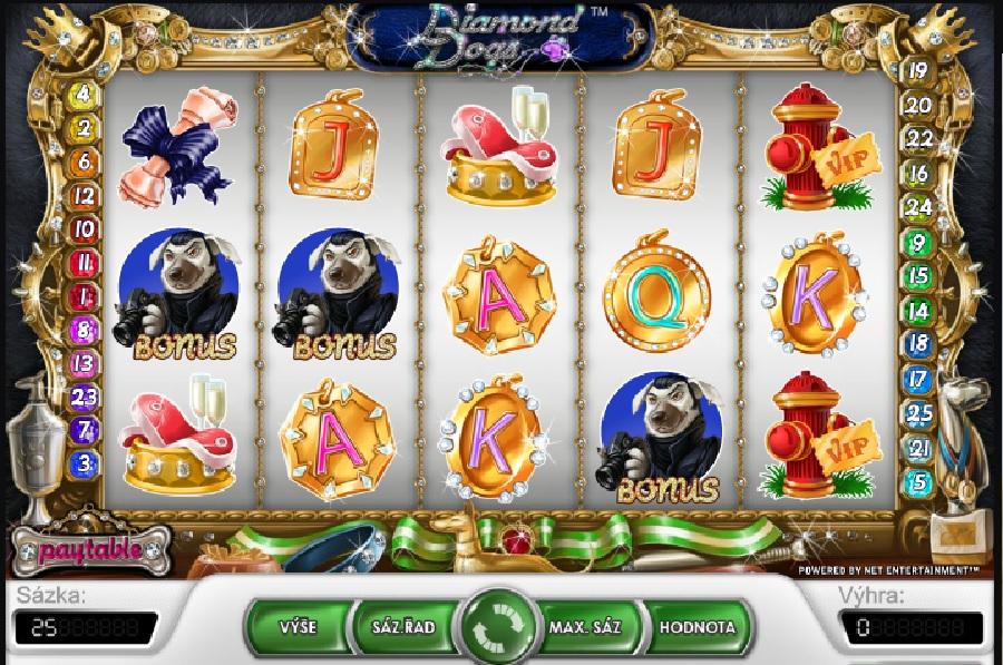 Hracie automaty Diamond Dogs