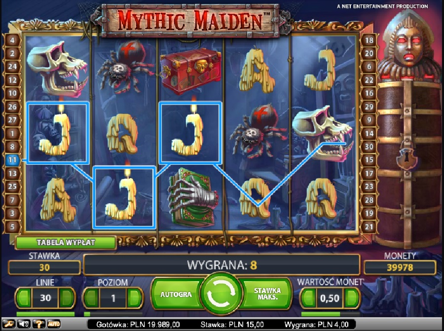 Mythic Maiden automaty do gry