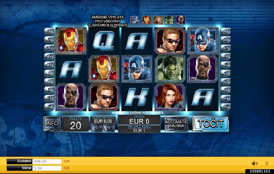 Výherné automaty Avengers
