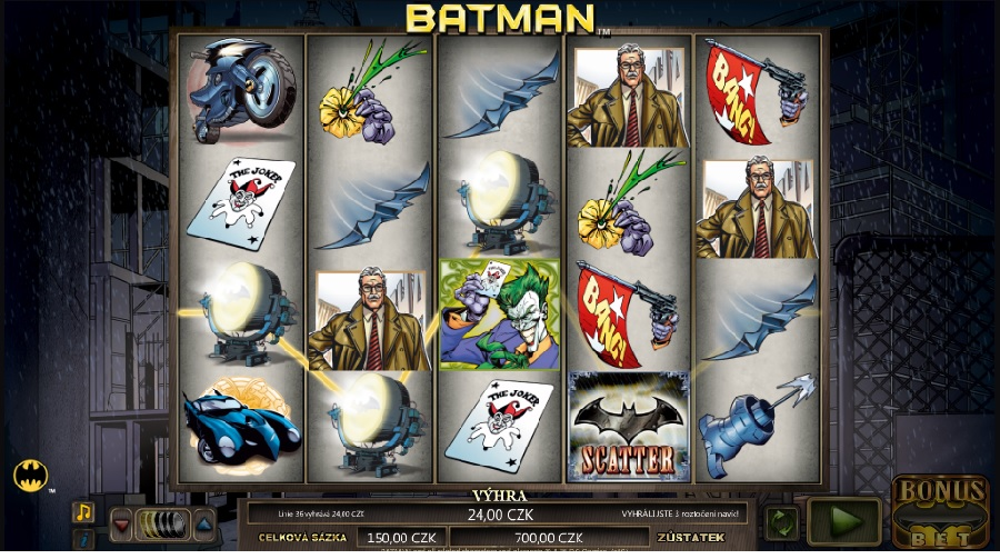 Batman hrací automaty