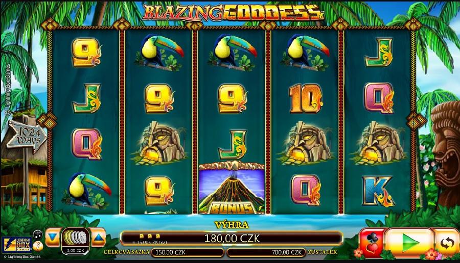 Blazing Goddes hracie automaty